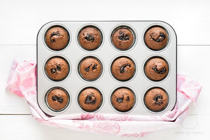 Przepis na muffiny piernikowo-czekoladowe | mbirowy Garnek