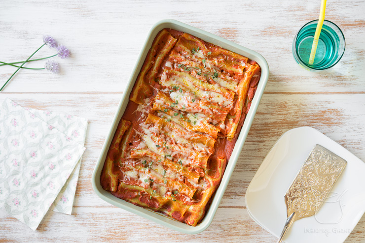 Cannelloni ze szpinakiem i ricottą | Przepis | Imbirowy garnek