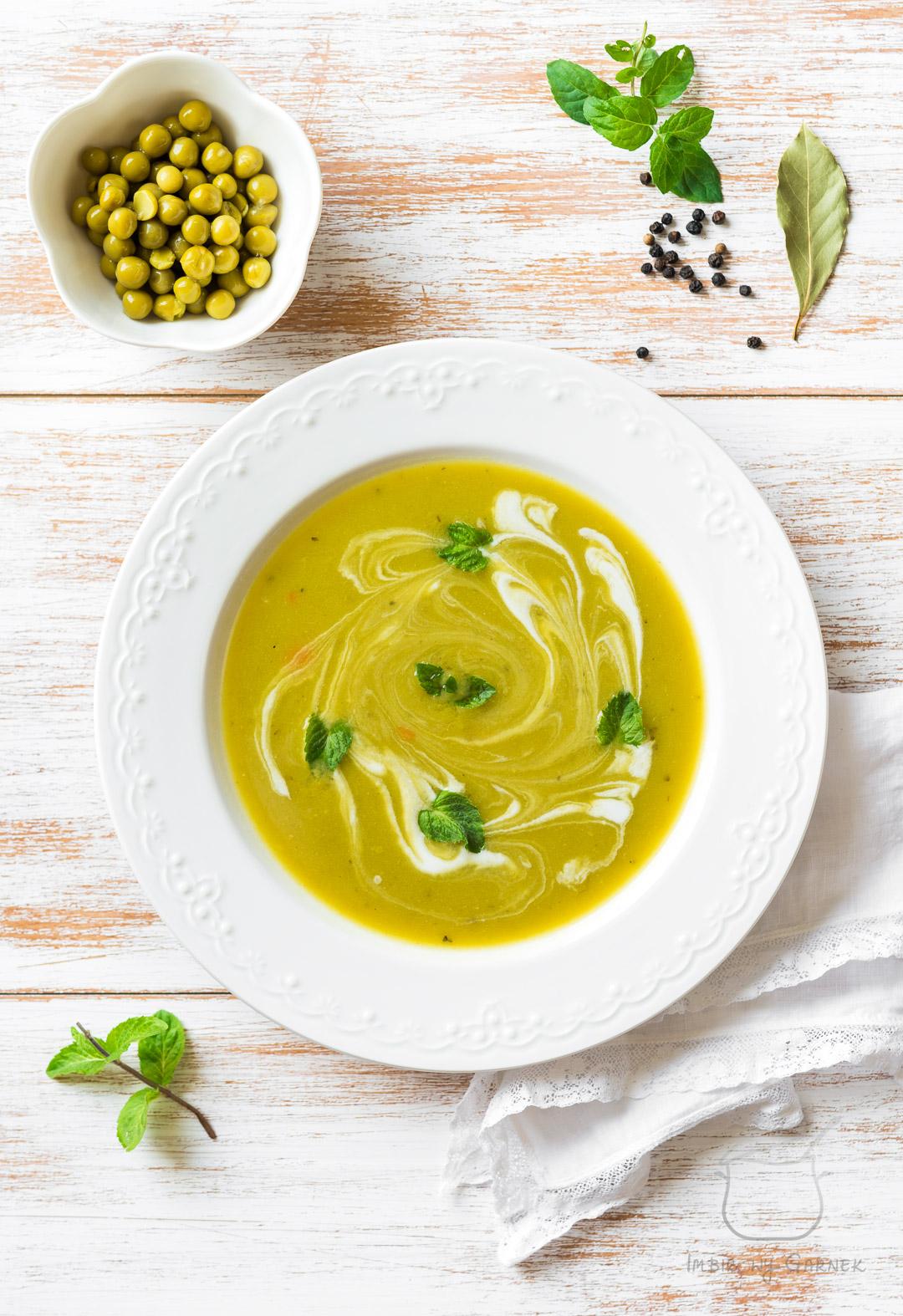 Zupa z zielonego groszku | Imbirowy Garnek